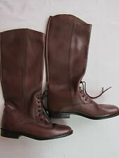 Women's BROWN BANDITS LEATHER BOOTS 7.5M LOW HEEL PREOWNED