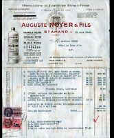 """SAINT-AMAND-MONTROND (18) DISTILLERIE / LIQUEURS """"Auguste NOYER & Fils"""" en 1945"""