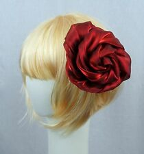 Red Lane Bryant Hair Jacket Floral style Brooch Pin Clip Bridal accessories