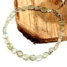 Natural Aquamarine Oval Shaped Beads Gemstone Bracelet For Men Women