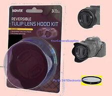 REVERSIBLE HOOD+UV+CAP to SONY DSC-RX10 III, RX10III RX10M3 RX10M4 HDR-FX1 Z1U