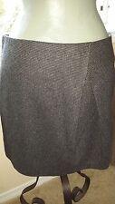 STILE BENETTON Black/Gray Wool Blend Career Skirt  US Sz 10  NWOT  Made in Italy