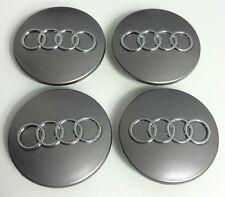 """4x Audi A3 A4 S4 A6 S6 A8 RS6 TT Quattro GRAY WHEEL CENTER HUB CAPS 60mm 2.2"""""""