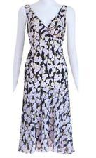 Diane Von Furstenberg vittorina dress silk lily  flowers Size medium Black white