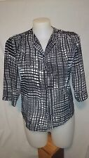 Liz Jordan Ladies Shirt in a Black and White Pattern Size 12