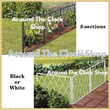 Scroll Metal Picket Fence Panels Section Flower Bed Pathway Lawn Edge Garden