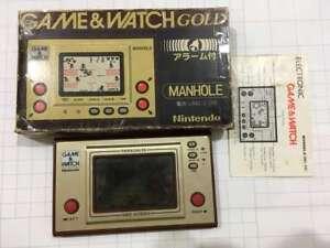 NINTENDO PORTABLE GAME & WATCH GOLD EDITION MANHOLE (USED, RARE & VINTAGE 1981)
