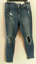 MUDD Jr's High-Rise Cut-Out Skinny Distressed Blue Jeans, Jr's size 11, NWT