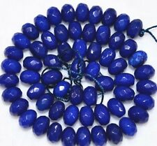 """5x8mm Faceted dark Blue Sapphire Gemstone abacus Loose Beads 15"""" PL225"""