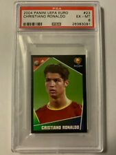 CRISTIANO RONALDO 2004 Panini UEFA Euro Portugal RC Sticker #23 PSA 6