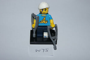 LEGO SERIES 15 #4 CLUMSY GUY Minifigure / Minifig 71011 crutches (W75) AS NEW