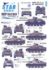 Star Decals 1/35 French AMX-30B and AMX-30B2 BRENNUS TANKS