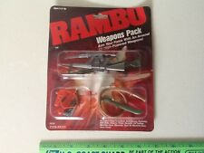 RAMBO WEAPONS PACK for Action Figures-MOC-9 Weapons & Machine Guns-Coleco 0836