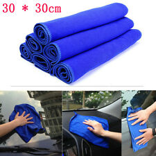 2X 30*30cm Blue Absorbent Wash Cloth Cars Auto Care Microfiber Cleaning Towel