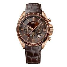 Hugo Boss HB1513093 DRIVER Brown Leather Strap Men's Chronograph Wrist Watch