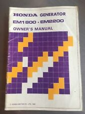 PRINTED 1981 HONDA GENERATOR EM1800 EM2200 OWNER'S MANUAL New