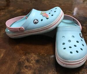 Crocs Sandal   Size 13c , Girls Toddler light blue / pink Color