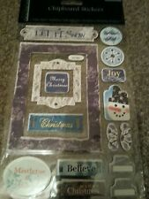 """DOVECRAFT CHIPBOARD STICKERS """"BLUE A"""""""