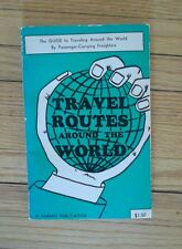 Vintage 1975 Travel Routes Around the World by Passenger Carrying Freighters