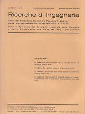 RICERCHE DI INGEGNERIA - anno III - bimestrale n. 3 - maggio/giugno 1935