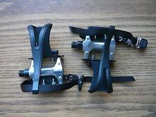 """XLC Alloy Road/Mountain Bike Bicycle Pedals 9/16"""" With Toe Clips & Straps"""