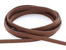 Weiches Wildlederband Lederimitat flach 5mm Wildleder Lederband Schmuckband