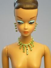 Barbie Repro Vintage FR Handmade Necklace Earrings Rhinestone Jewelry NE100027
