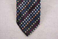 Michele Sartori Necktie Pure Silk Multicolor Polka Dot Stripes Italian Tie