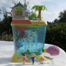 Mini Polly Pocket Aquarium Dolphin Island 100% complete Bluebird