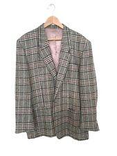 Kenzo muy bonito blazer Checker patrones más fino lana sz.54