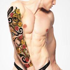 Full Arm Tattoo XXL Fake Tattoo Skull Roses&guns 44, 5x15, 5cm Qb-3004