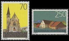 2003 LIECHTENSTEIN N°1255/1256** ARCHITECTURE EGLISE MAISON LUXE