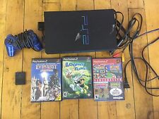 Playstation 2 Fat Bundle with blue control 3 game looney tunes everquest namco