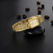 Fashion Women Bracelet Watch Gold Stainless Steel Analog Quartz Wrist Watch New