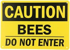 """Caution: Bees Do Not Enter"" Beekeeping Bees Sign Yard Field Bee Hive BeeKeeper"