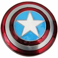 Marvel Comics CAPTAIN AMERICA Domed Metal Logo Shield BELT BUCKLE