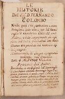 HISTORIE DEL S. D. FERNANDO COLOMBO 1571 1 EDIZIONE CRISTOFORO COLOMBO  COLUMBUS