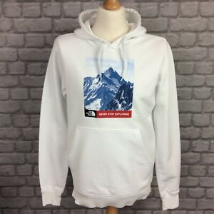 THE NORTH FACE MENS WHITE MOUNTAIN OVERHEAD HOODED FLEECE TOP HOODIE HOODY £65 A