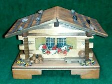 Large Vintage Reuge Swiss Chalet music box - plays Doctor Zhivago Lara`s Theme
