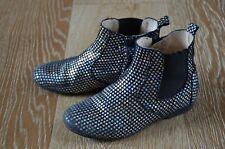 Manuela de Juan Girls Star Print Leather Boots Size Euro 30/Us 12