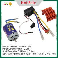 540 Brushed Motor + 45A ESC Combo for 1/10 Scale RC Buggy Truck Crawler Car