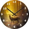 WALL CLOCK STAG 25cm Magical Deer Forrest Trees Myst Fantasy Home Decor diy 472