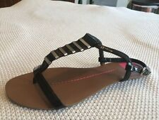 Women's Dolce Vida Black Ankle Strap Sandals Size 7.5