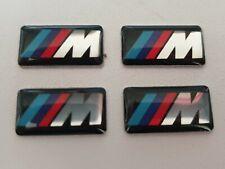 4 x BMW M Power Logo 3D Emblem Felgen Lenkrad Sticker Aufkleber 17 x 9 mm NEU