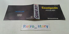 Nintendo Game Boy Centipede Notice / Instruction Manual