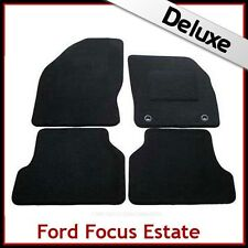 Ford Focus Estate Mk2 2004-2011 Tailored LUXURY 1300g Carpet Car Mats BLACK