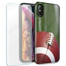 Football Double Layer Case Glass Screen For Apple iPhone XR