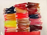70pc ASSORTMENT FISHING shrimp tails  Lures Soft Plastic Baits Assorted colors
