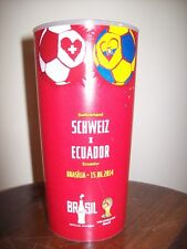 ORIGINAL WORLD CUP BRAZIL 2014 - COCA COLA - CUP GLASS - EXCLUSIVE