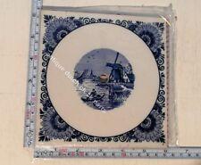 ORIGINAL LARGE BLUE DELFT DIAL TILE REPLACEMENT FOR DUTCH WARMINK ZAANDAM CLOCK